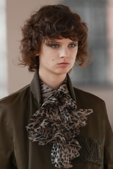 Dark green shadows.  Look from the Max Mara collection
