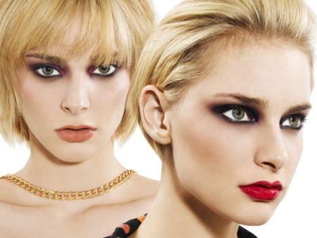 Eye makeup with black eyeliner and dark shadows