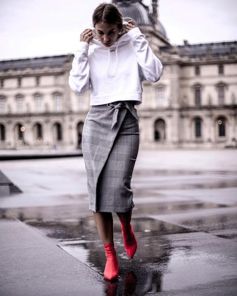 Fashionable warm skirts