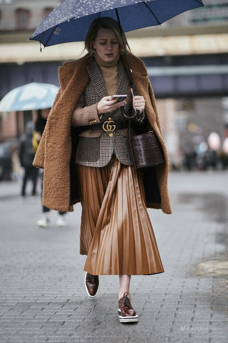 with what to wear a skirt in winter and autumn