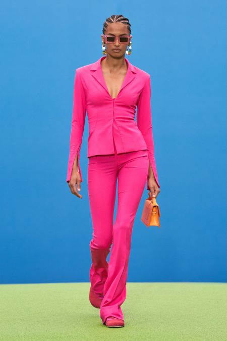 Suit in the style of sports chic from Jacquemus FW 2021-2022