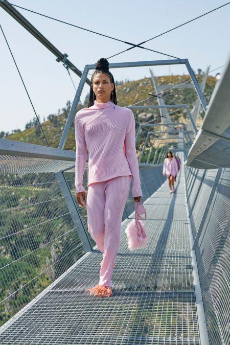 Marques'Almeida Pink Rib Knit Suit