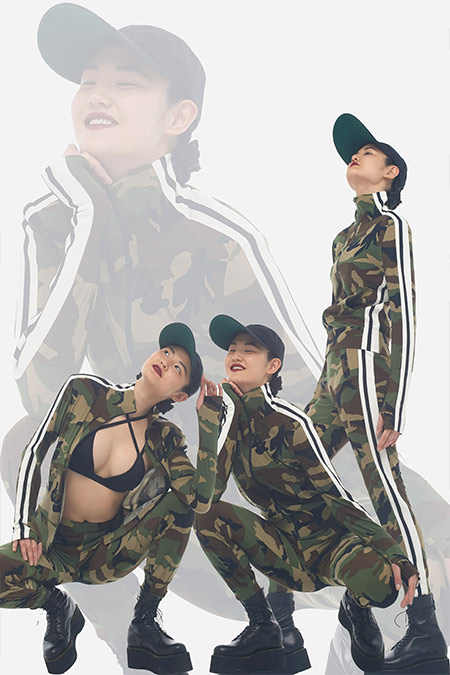Tracksuits with military print