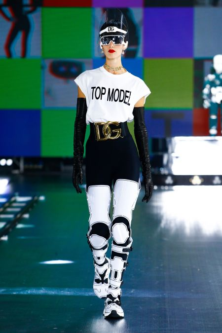 White T-shirt with Top model lettering from the Dolce & Gabbana collection