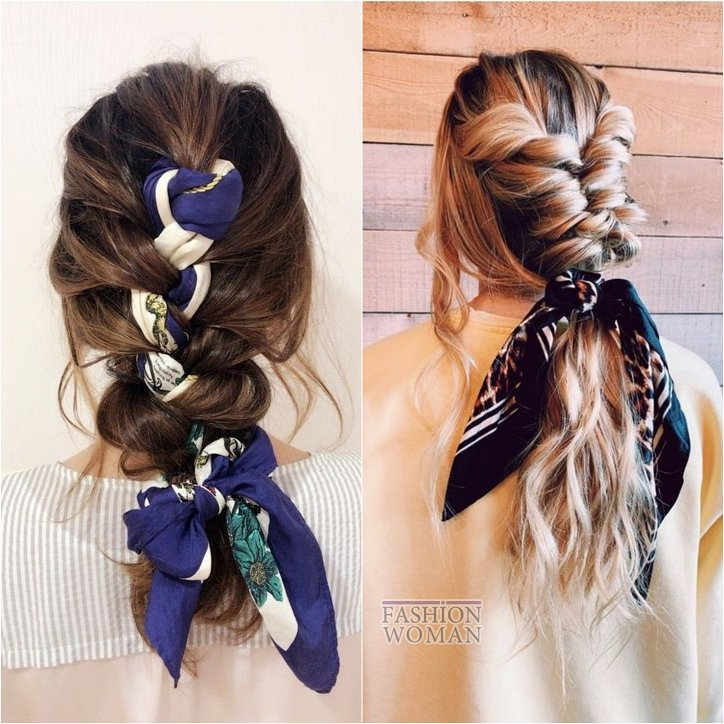 How beautiful to wear a scarf - stylish ideas for a note photo # 6