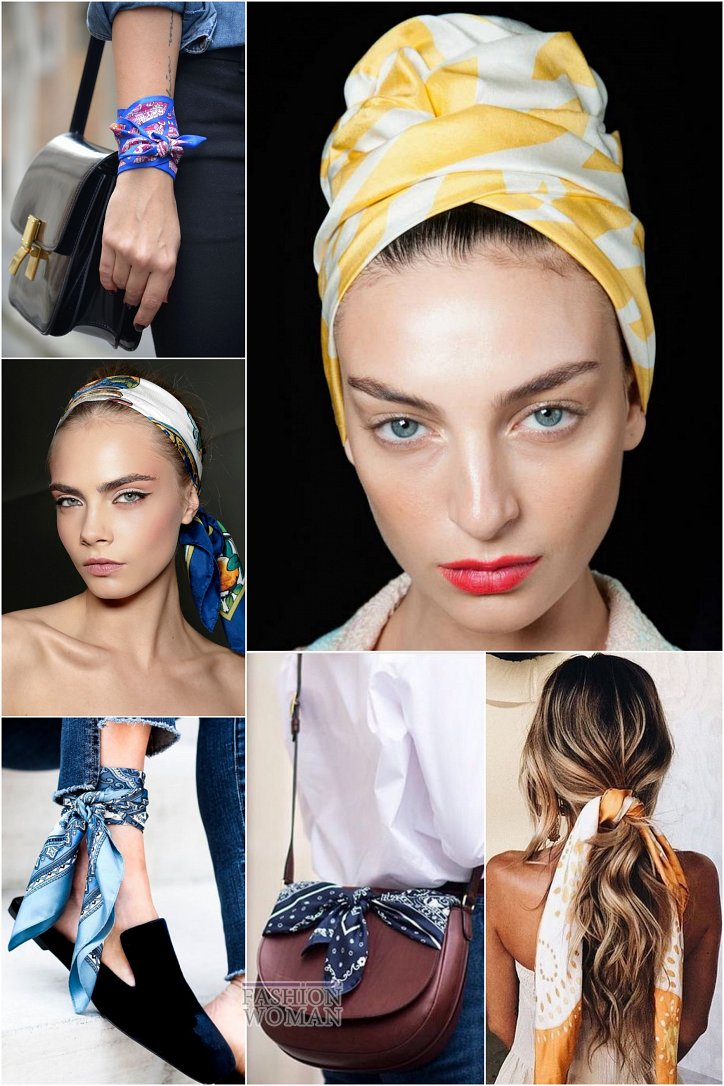 How beautiful to wear a scarf - stylish ideas for a note photo # 4