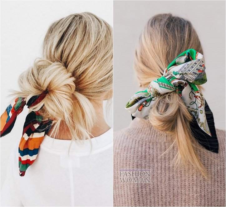 How beautiful to wear a scarf - stylish ideas for a note photo # 10