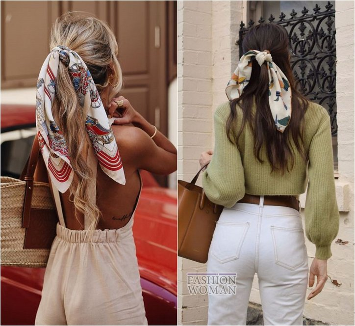 How beautiful to wear a scarf - stylish ideas for a note photo # 9