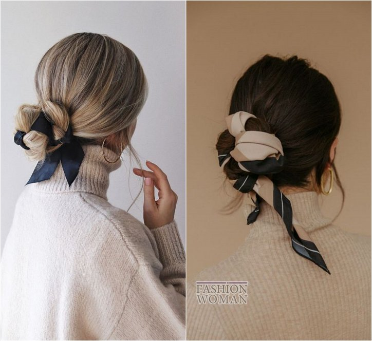 How beautiful to wear a scarf - stylish ideas for a note photo # 8