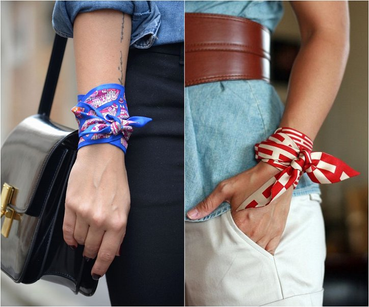 How beautiful to wear a scarf - stylish ideas for a note photo # 15
