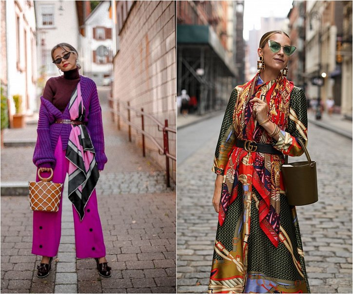 How beautiful to wear a scarf - stylish ideas for a note photo # 19