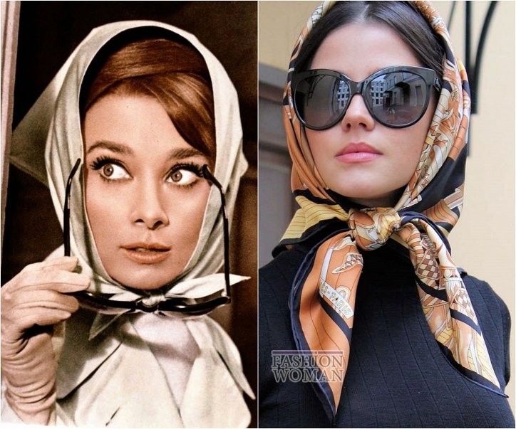 How beautiful to wear a scarf - stylish ideas for a note photo # 13