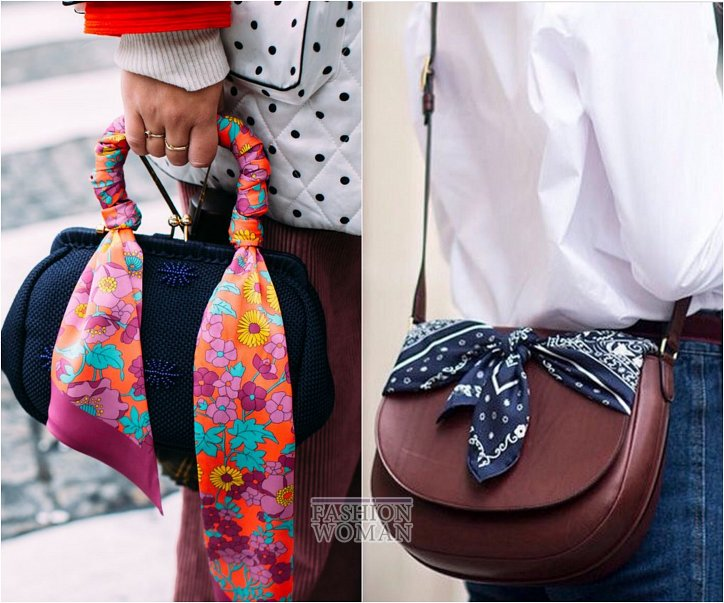 How beautiful to wear a scarf - stylish ideas for a note photo # 22