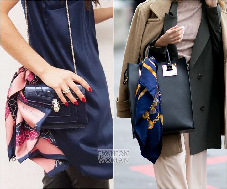 How beautiful to wear a scarf - stylish ideas for a note photo # 21