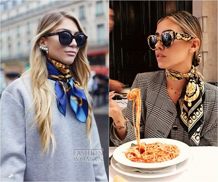 How beautiful to wear a scarf - stylish ideas for a note photo # 24
