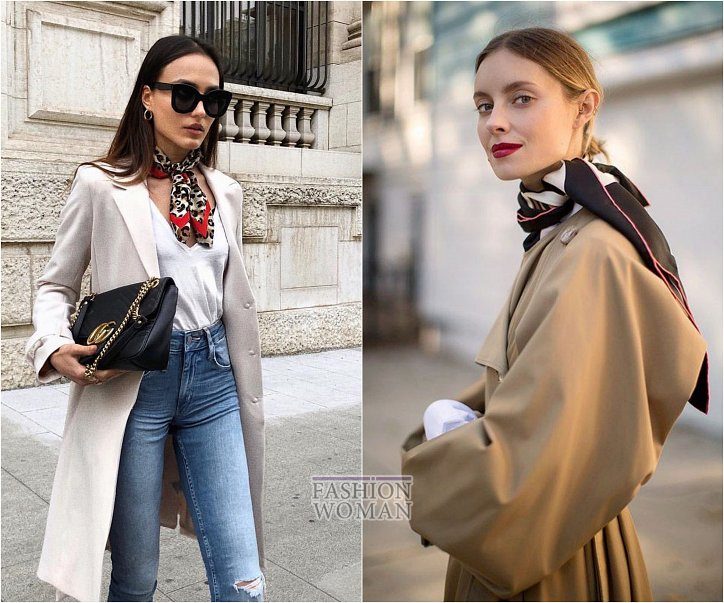 How beautiful to wear a scarf - stylish ideas for a note photo # 26
