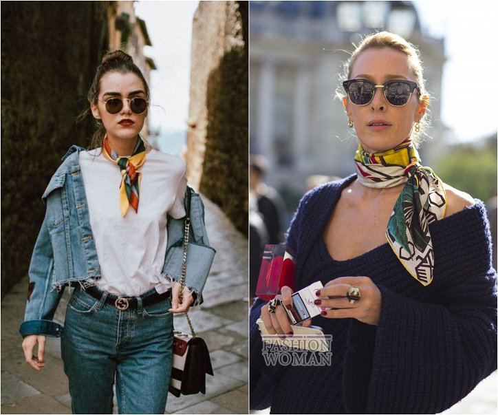 How beautiful to wear a scarf - stylish ideas for note photo # 28