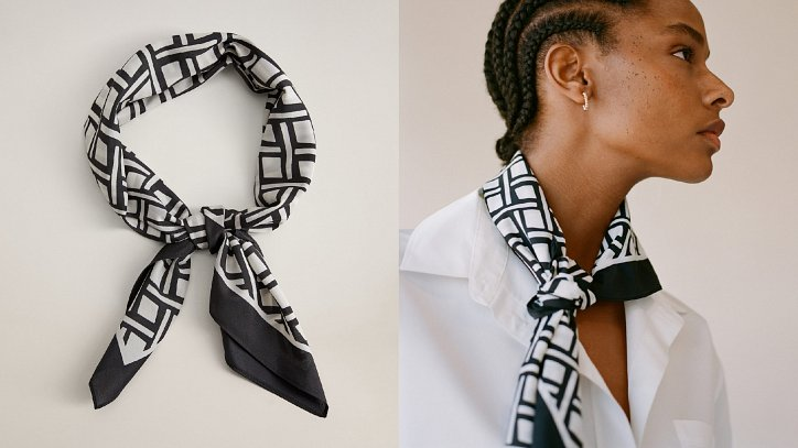 How beautiful to wear a scarf - stylish ideas for note photo # 27