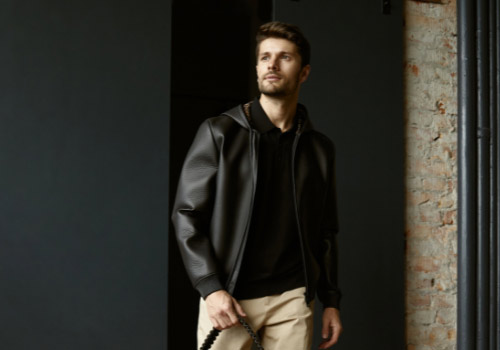 Leather men's jacket 2021