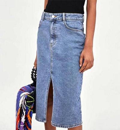 Denim Pencil Skirt and Black Turtleneck looks