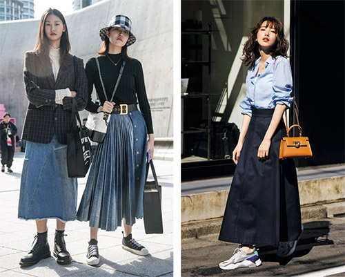 What to wear with a denim skirt: casual looks