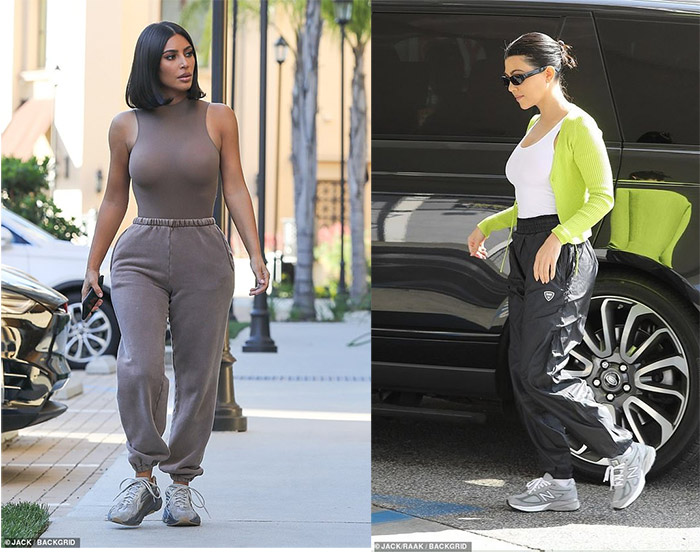 The Kardashian sisters wear BN